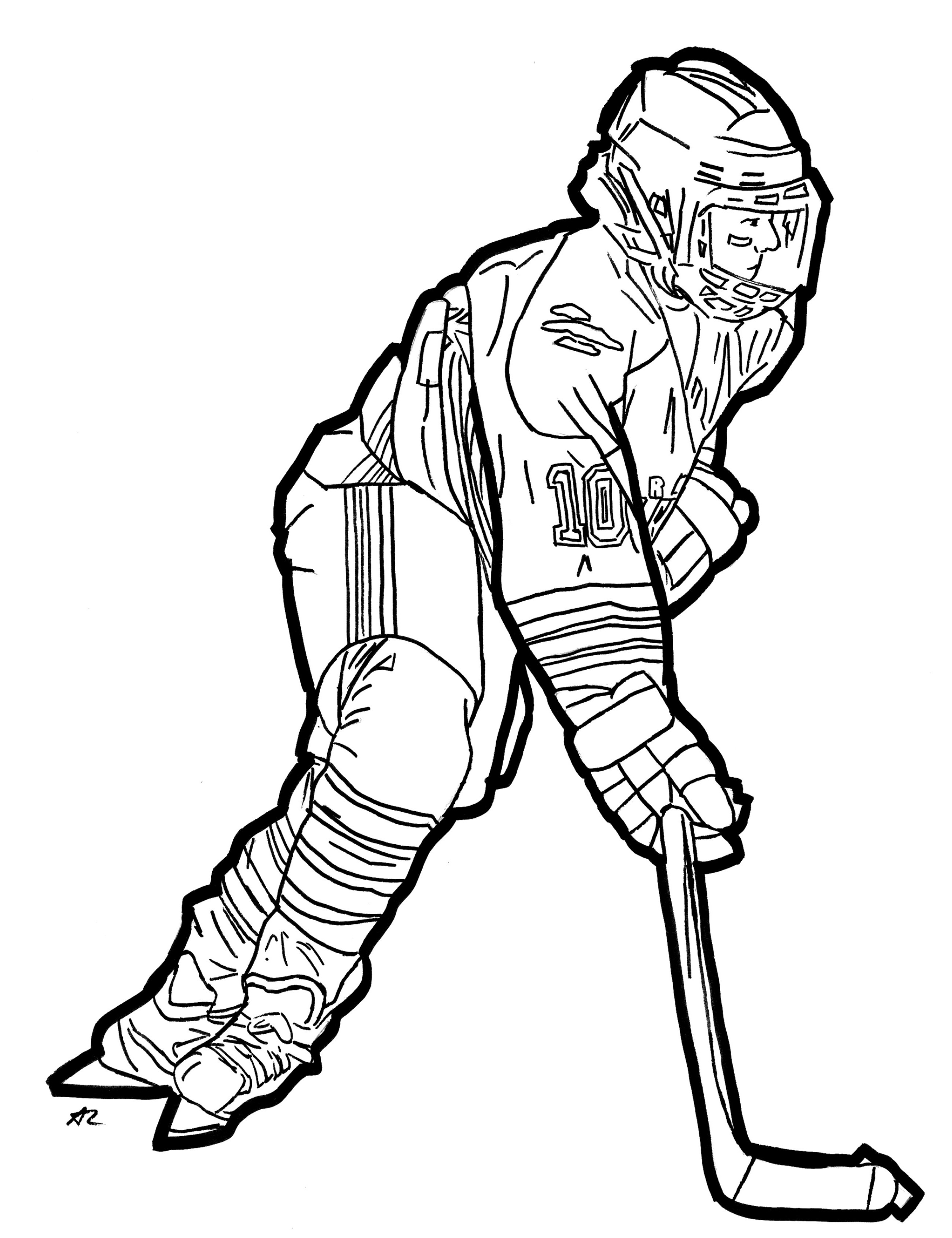 Hockey Colouring Book – A. Lubowitz
